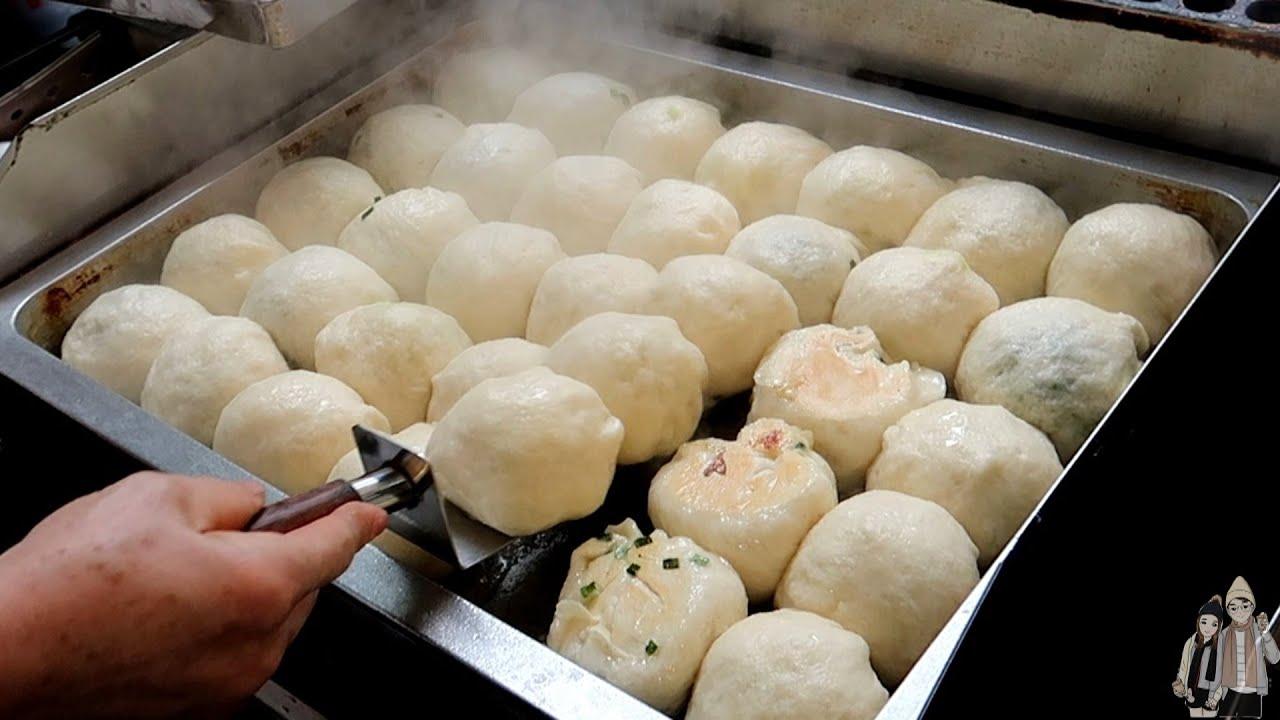 水煎包-台灣街頭美食(Steam-Fried Baozi - Taiwanese Street Food)