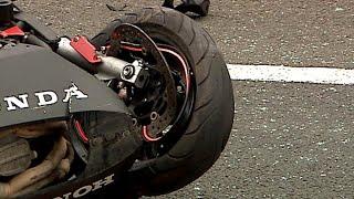 Dramatyczny film z wypadku motocyklowego