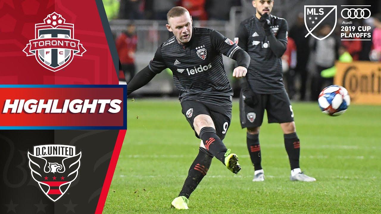 Toronto FC vs. D.C. United | Wayne Rooney's Dramatic Last MLS Game | PLAYOFF HIGHLIGHTS