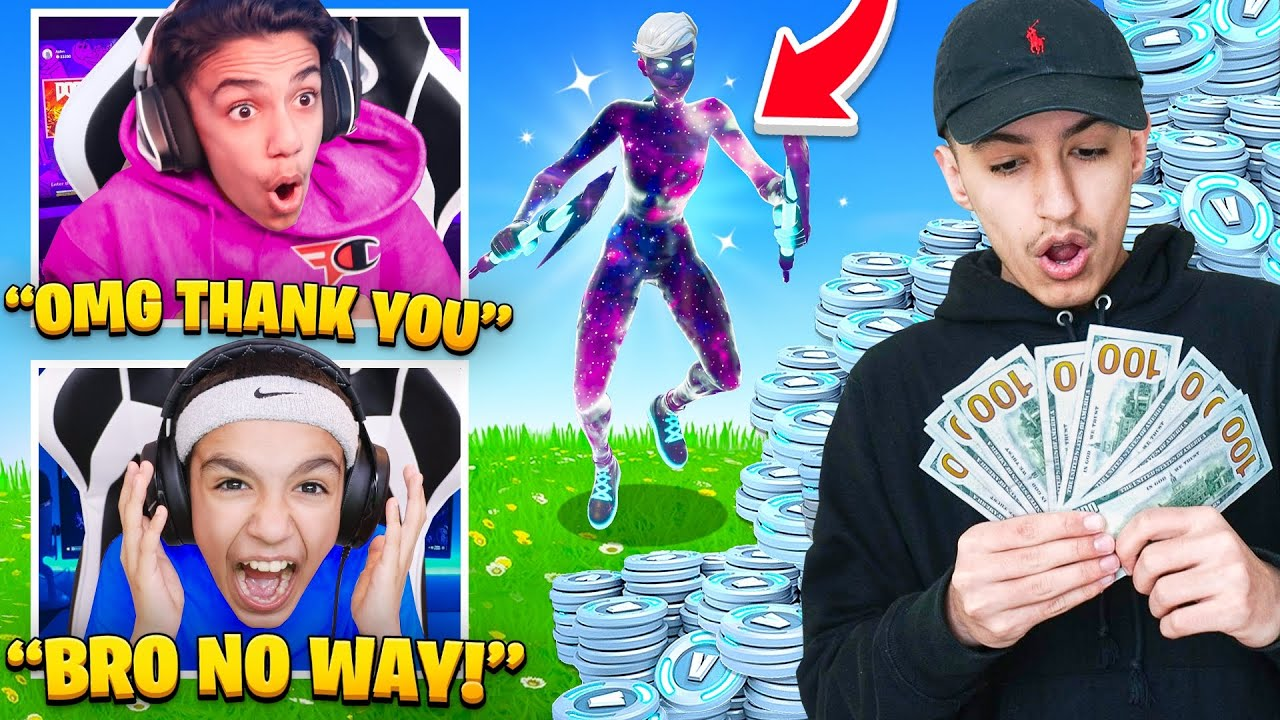 I Surprised My Brothers With The New Girl Galaxy Scout Skin In Fortnite!