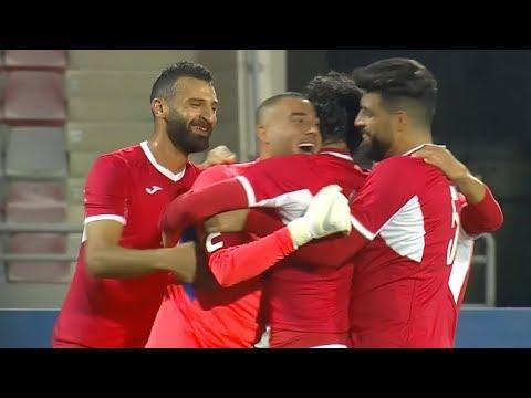 حارس منتخب الأردن عامر شفيع يسجل هدف من المرمى للمرمى أمام الهند 2018/11/17