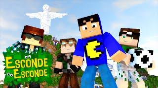 Minecraft: YOUTUBERS NA PRAIA! (Esconde-Esconde)