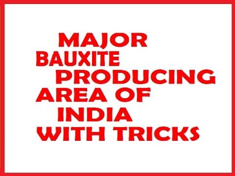 MAJOR BAUXITE MINES OF INDIA WITH TRICKS @ MAHALAKSHMI ACADEMY