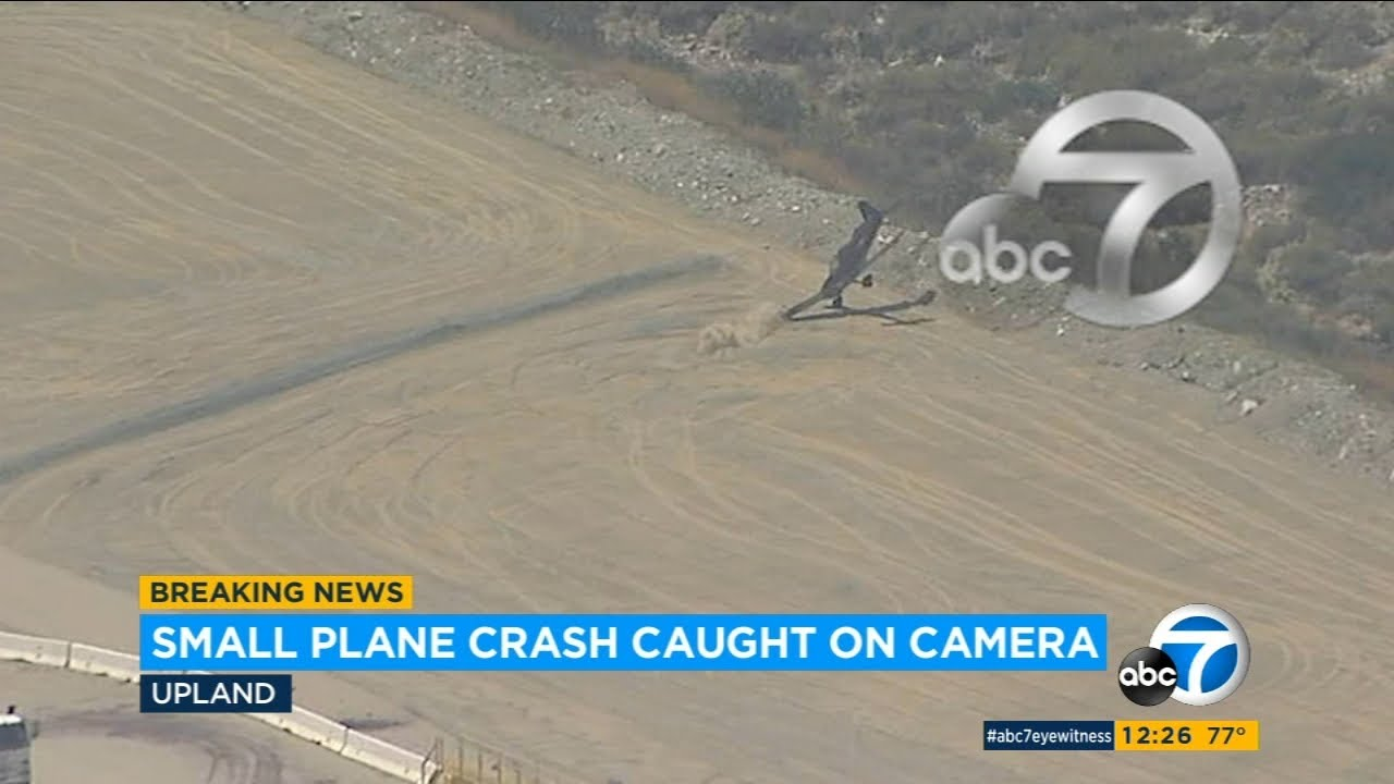 Plane crash in Upland, CA: Exclusive video shows moment small plane crashes at airport | ABC7