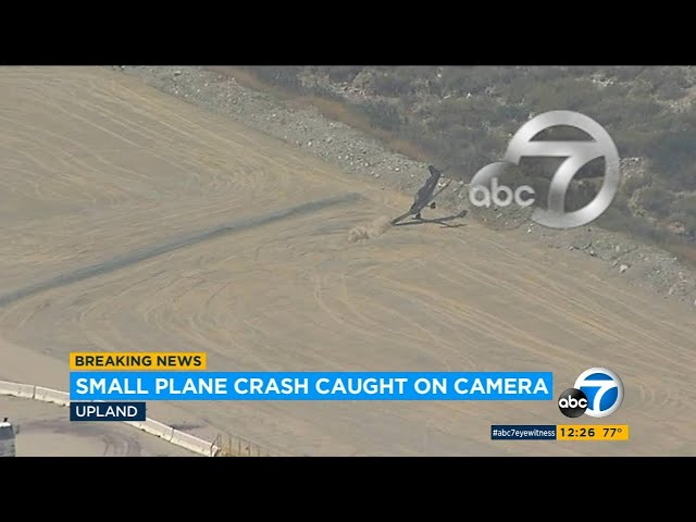 Plane crash in Upland, CA: Exclusive video shows moment small plane crashes at airport   ABC7