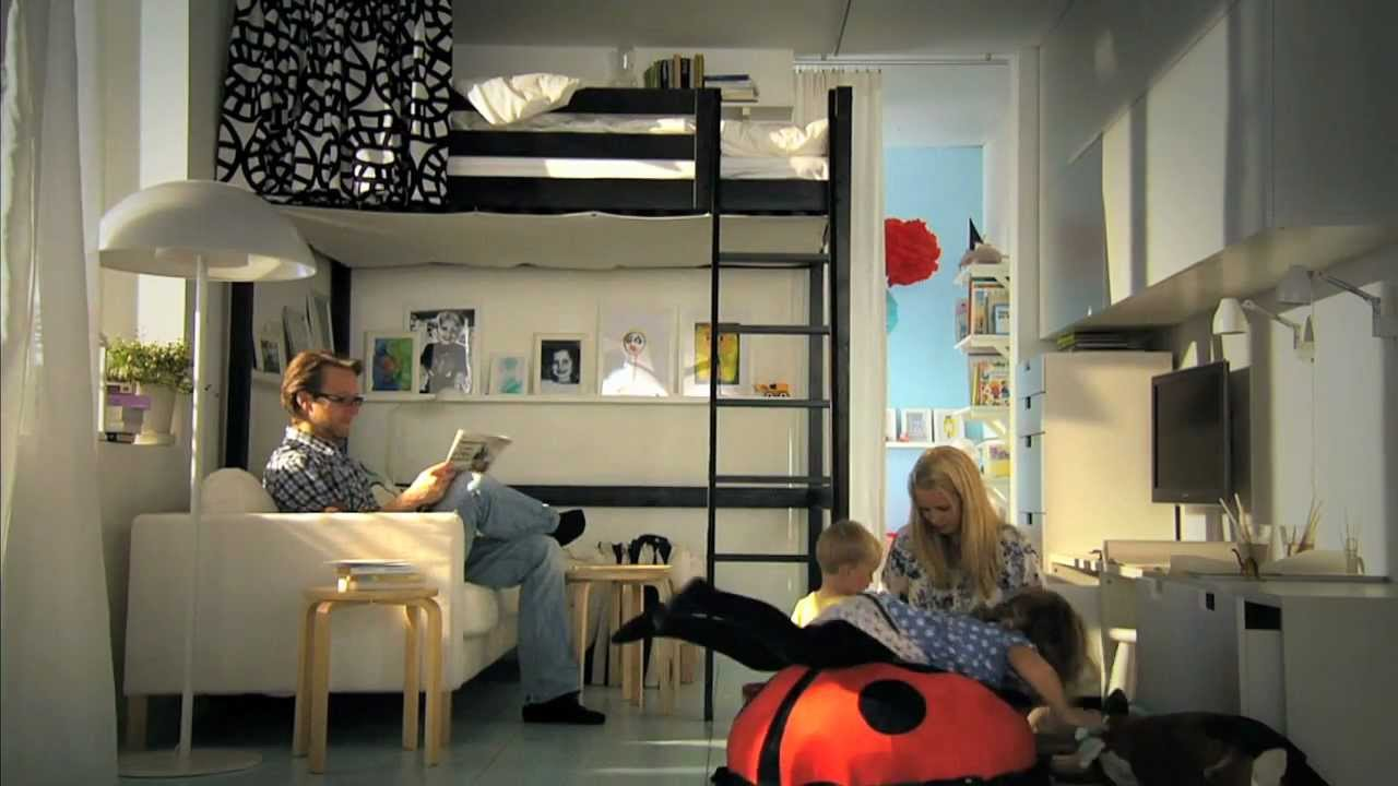 ikea f r kleine r ume clevere ideen f r mehr platz youtube. Black Bedroom Furniture Sets. Home Design Ideas