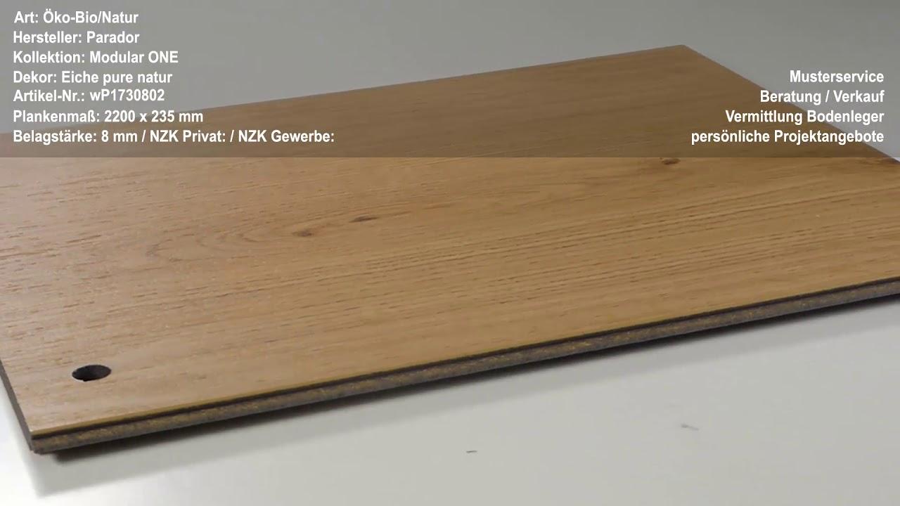 Parador Modular One Test : parador modular one eiche pure natur youtube ~ Watch28wear.com Haus und Dekorationen