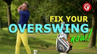 How to stop your overswing in golf - An easy fix to correct your golf swing