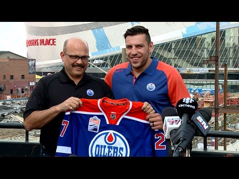 ARCHIVE: Peter Chiarelli & Milan Lucic Free Agency Day Press Conference