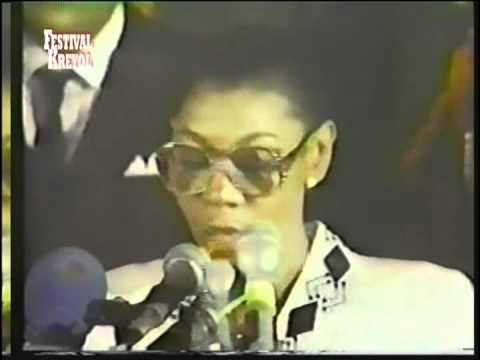 PRESIDENT ERTHA PACALE TROUILLOT AND  ELECTION OF 1990:JUNIOR MENGUAL OWNER  AYITI TAN LONTAN PART 5