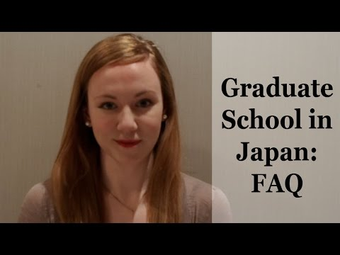 Graduate School in Japan - FAQ