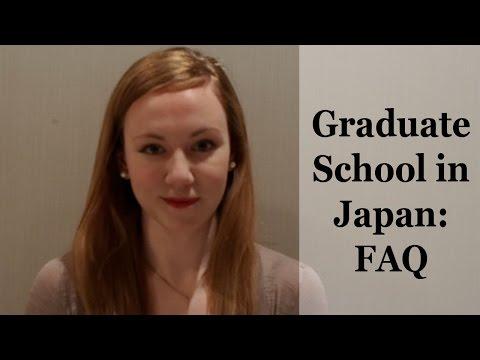Graduate School in Japan - FAQ