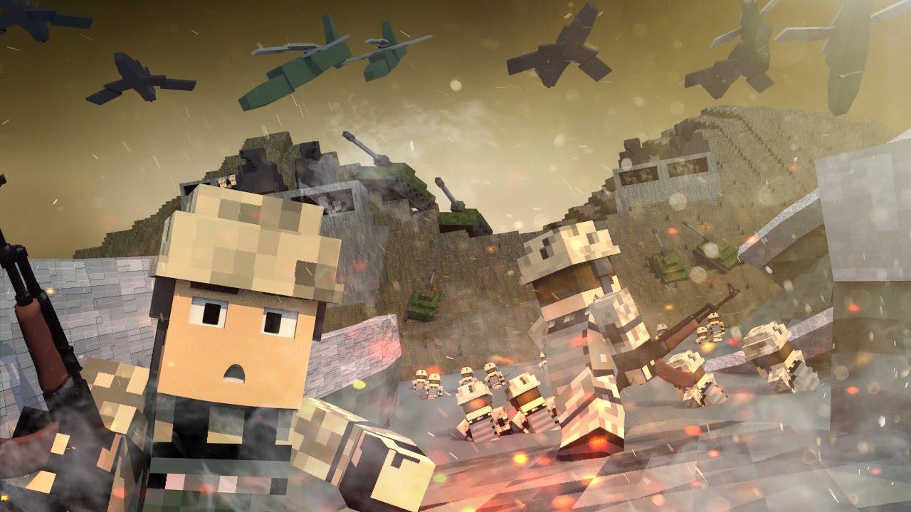 Minecraft | WORLD WAR 2: D-Day Invasion! (Tanks, Soldiers, Battleships)
