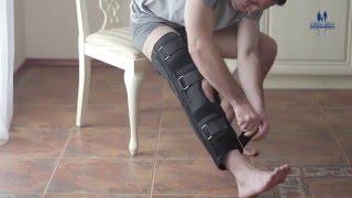 видео Разъемный бандаж Trives на коленный сустав