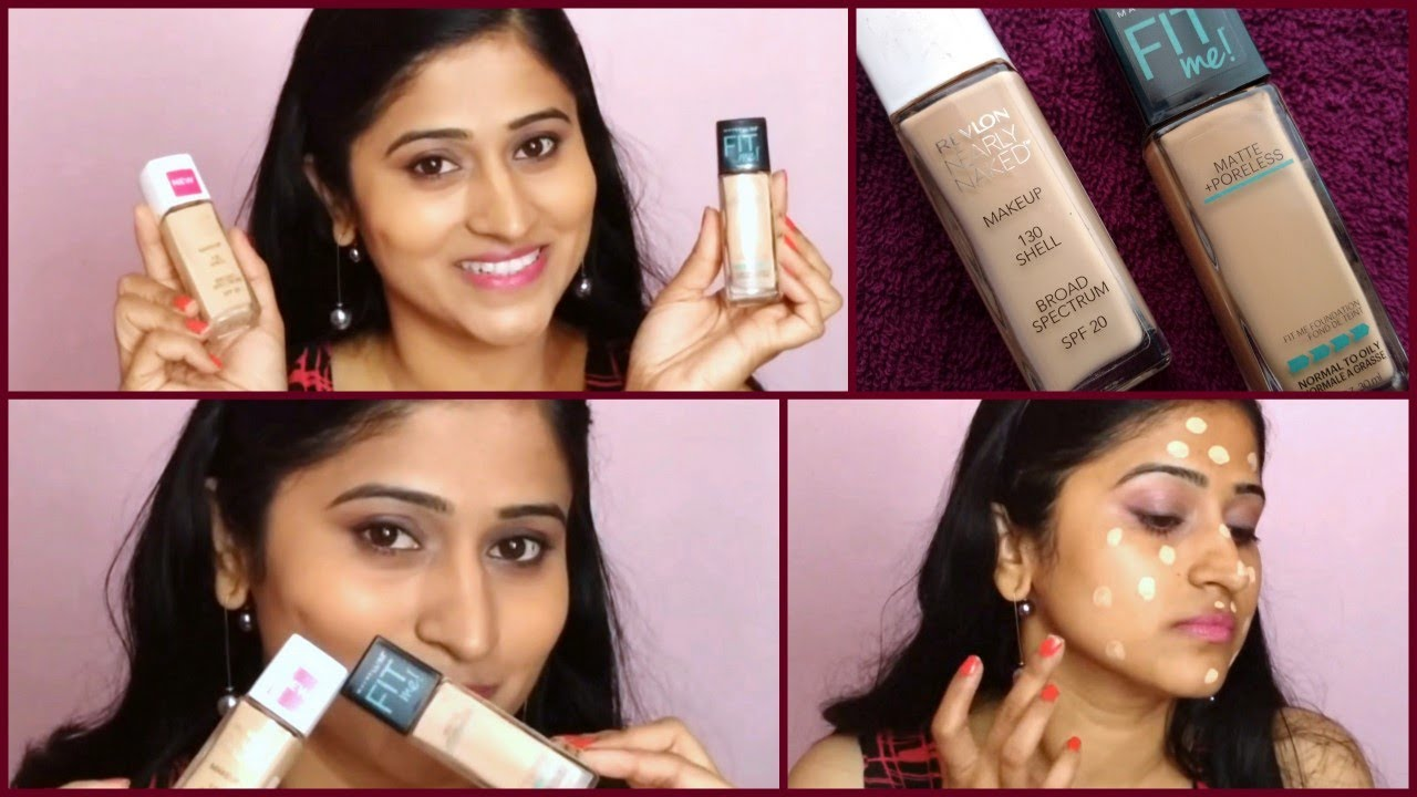 Maybelline Fit Me Matte Poreless Review Demo Vs Revlon Nearly Airyrooms Foundation 30ml Naked