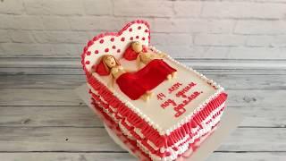Торт кровать.Торт на Годовщину Свадьбы.