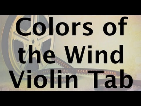 Learn Colors of the Wind on Violin - How to Play Tutorial