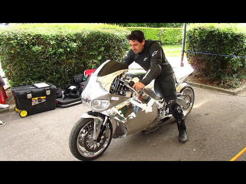 Y2K Jet Turbine Motorcycle full start procedure and burn out