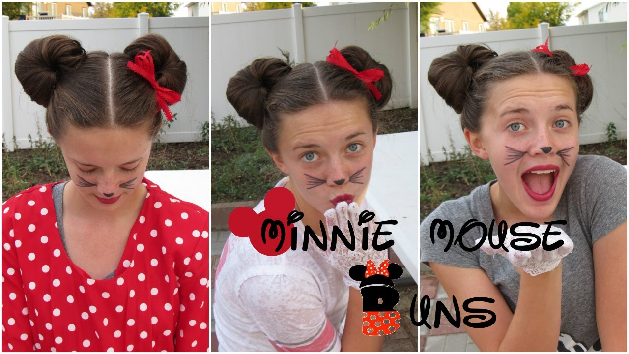 disney minnie mouse buns | jewels cool spooks - youtube