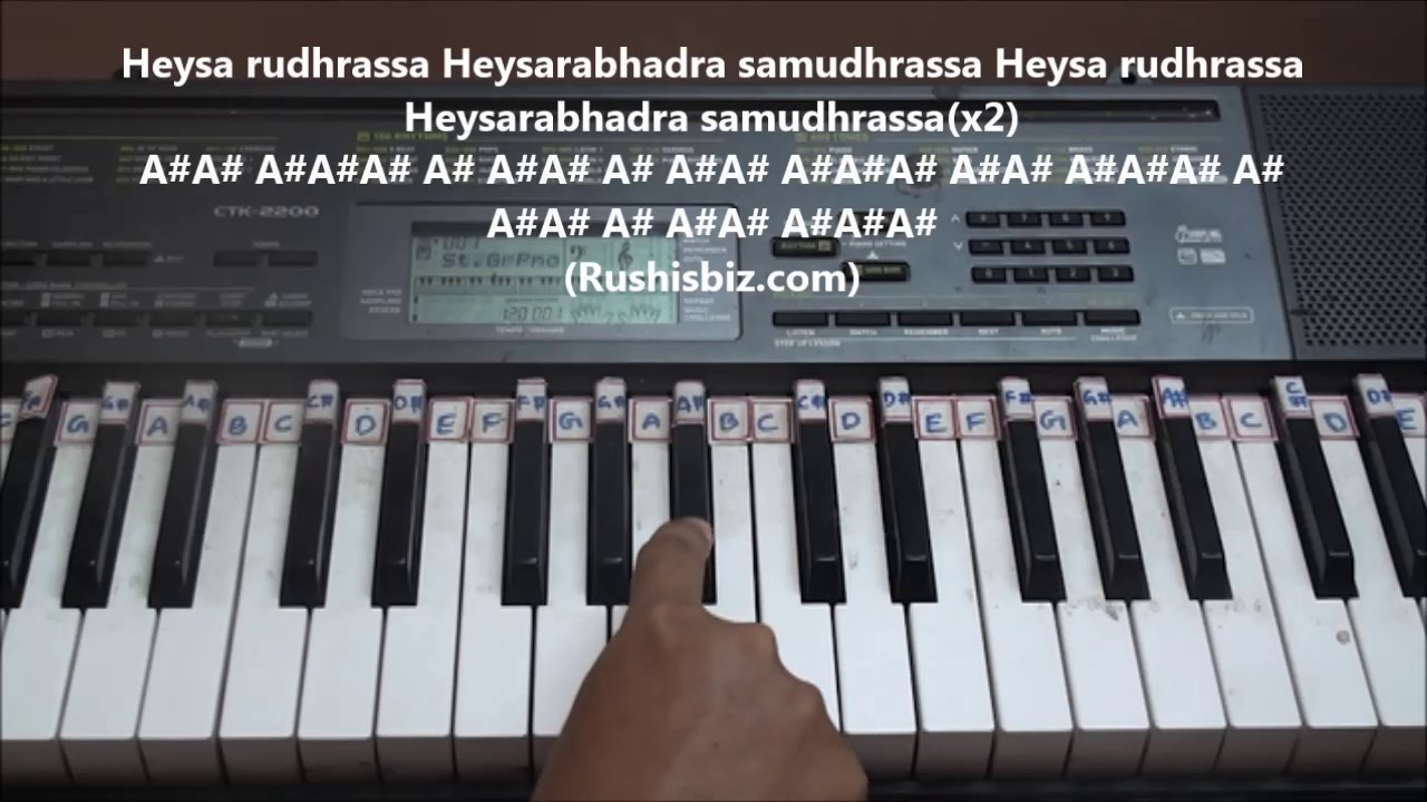 Saahore Baahubali (Title Song) Piano Tutorials - Telugu | 1200 SONGS/PDF  BOOK @399/- 7013658813