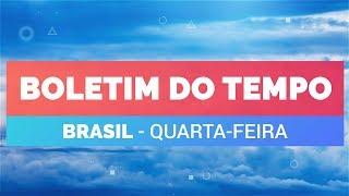 Previsão Brasil – Quarta-feira instável no centro-norte do Brasil