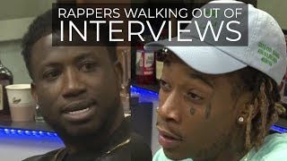 Download RAPPERS WALKING OUT OF INTERVIEWS Mp3 and Videos