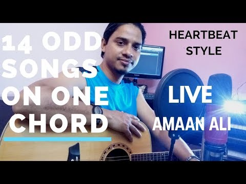 14 Songs Mashup on one chord - Amaan Ali | ( LIVE Cover) Heartbeat Style