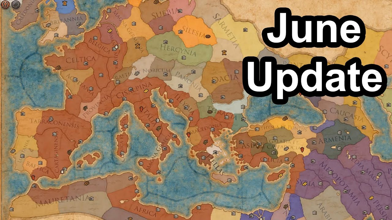 total war rome 2 june update map informations provinces and