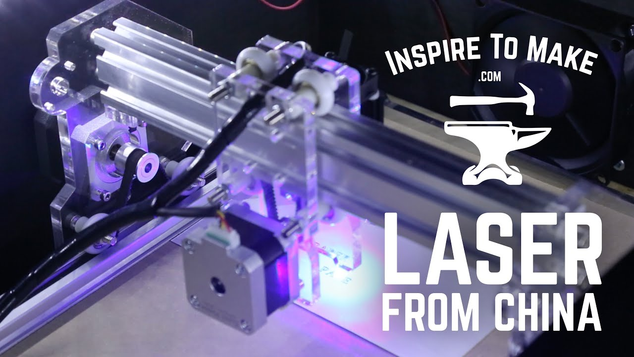 Diy Cnc Laser Engraver From China Youtube