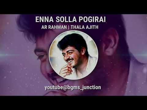 Enna Solla Pogirai Flute Bgm | AR Rahman | Thala Ajith | Naveen Kumar Flute | WhatsApp Status Video