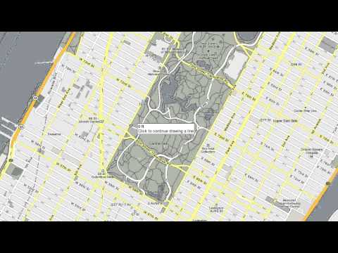 Drawing lines and shapes in Google Maps - YouTube