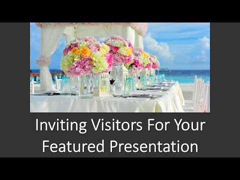 BNI 10 Minute Presentation - Visitors for Featured Presentation - Network Education