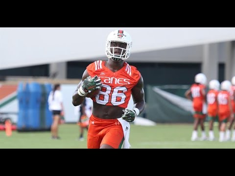 Miami Hurricanes Practice 4: Tight End Drills