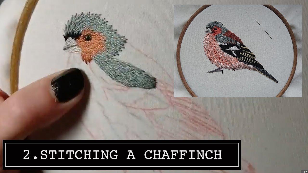2. Hand Embroidery. Chaffinch. Stitching a Bird Online ...