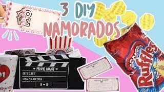 3 DIY Presentes Barato para o Dia dos Namorados Box Cinema Cartão Mágico e Batata Surpresa