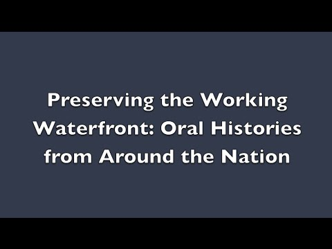 Preserving the Working Waterfront Webinar [NSGLC]