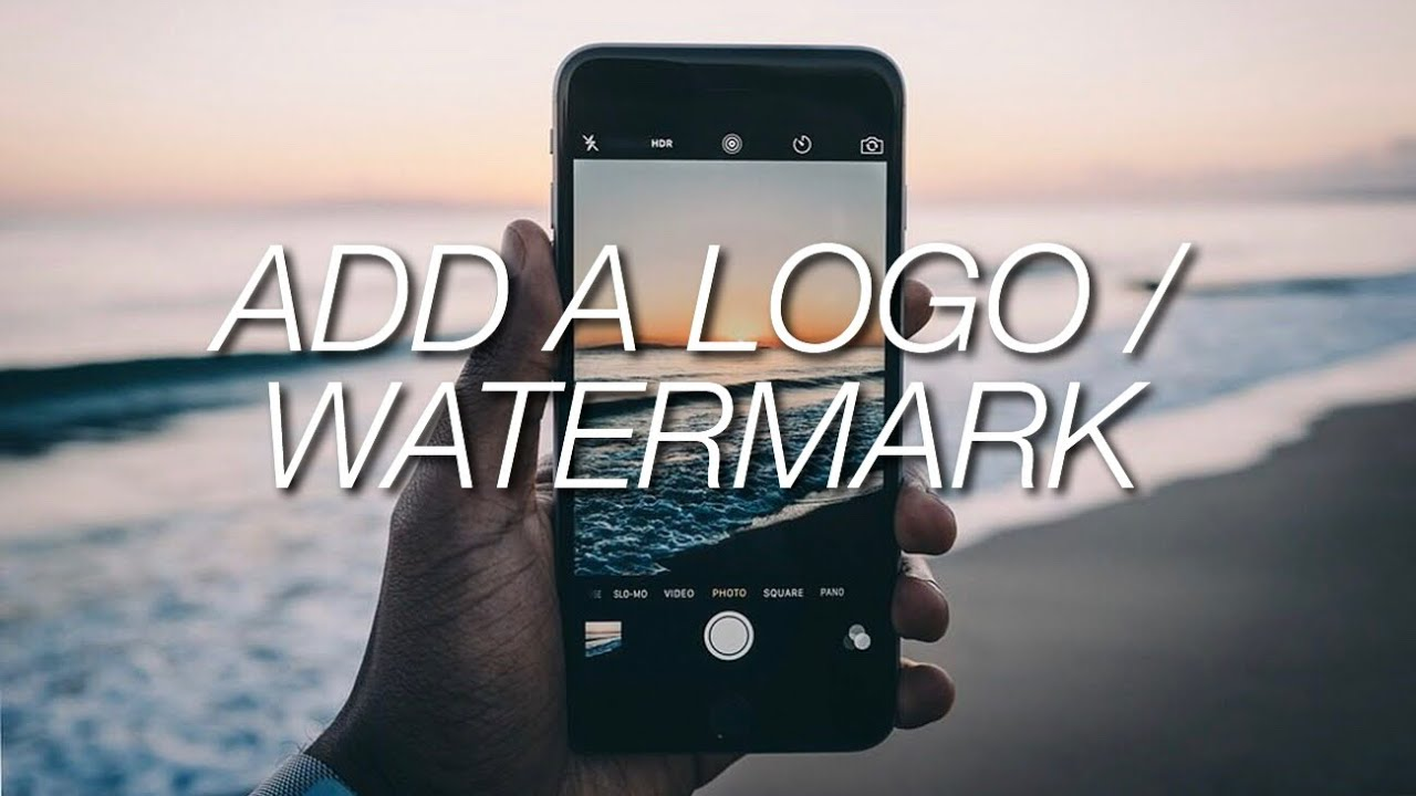 How to add a logo watermark to your photos youtube ccuart Image collections