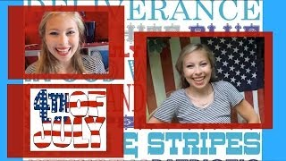 Fourth of July Makeup, Nails, Hair and Outfit! Thumbnail