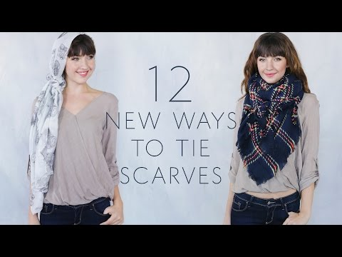 New Ways To Tie Scarves