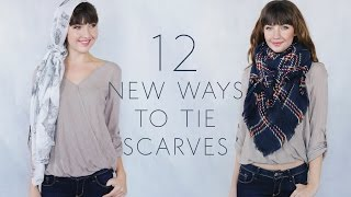 12 New Ways to Tie Scarves