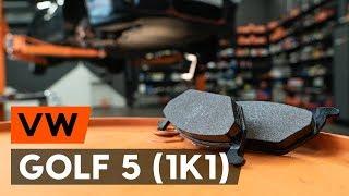 Hogyan cseréljünk Fékbetét készlet GOLF V (1K1) - lépésről-lépésre videó útmutató