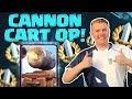 CANNON CART OP! Log Bait Cannon Cart Deck LIVE Grand Challenge Gameplay - Clash Royale