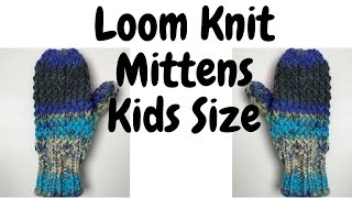 Loom Knit Children's Mitten