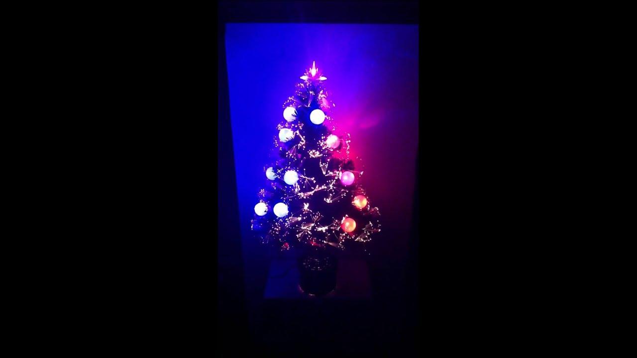 PRE-LIT MULTI COLOR LED FIBER OPTIC CHRISTMAS TREE With
