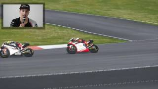 baldassarri goes wild while commenting malaysiangp last lap with valentino rossi the game