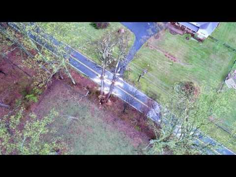 Tornado damage aftermath - Fauquier, VA  - Captured by drone