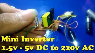 how to make a mini inverter 1.5v dc to 220v ac with an old mobile phone charger TRANSFORMATOR