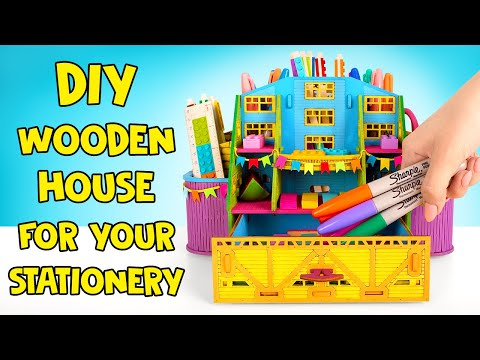 DIY Miniature Wooden House For Your Stationery