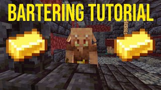 How To Trade With Piglins In Minecraft (Bartering tutorial)