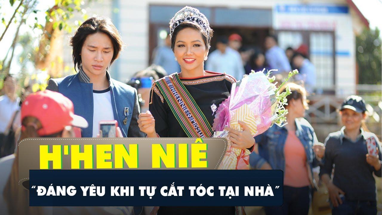 Hoa hậu H'Hen Niê đáng yêu khi tự cắt tóc tại nhà